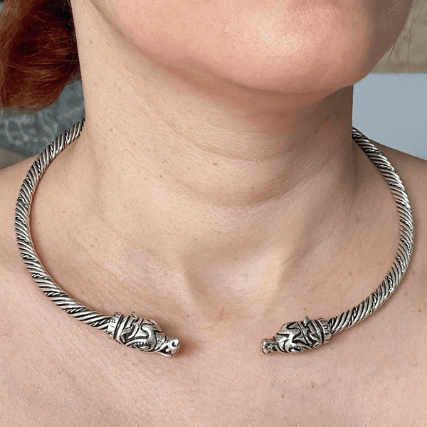 Wolf Torc Necklace