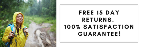 Free 15 Day Return and 100% Satisfaction Guarantee