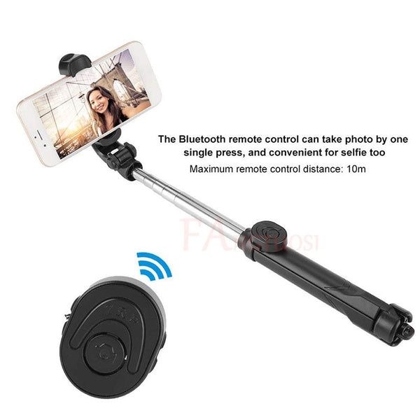 3 in 1 Wireless Bluetooth Selfie Stick + Mini Selfie Tripod with Remote Control For iPhone