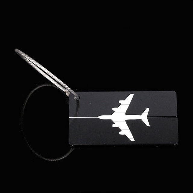 Luggage Tag with Stainless Steel Ring