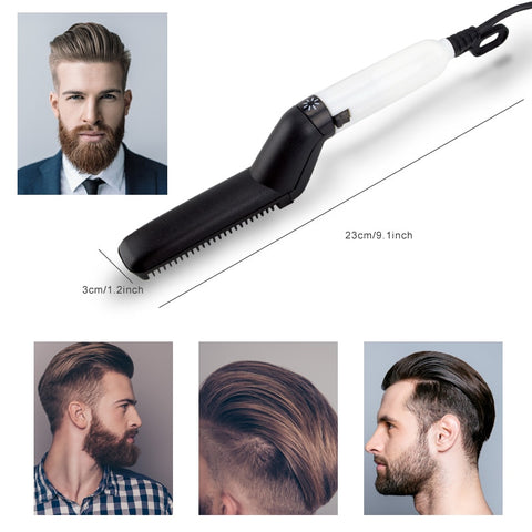 Men's Heated Hair and Beard Comb for Quick Sleek Hairstyle