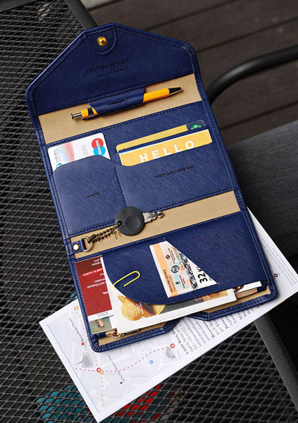 Essential Travel Wallet for Passport, Cards, Documents