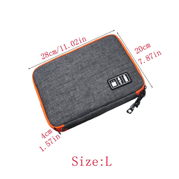 HIGH GRADE 3 Layer Electronic Accessories Organizer