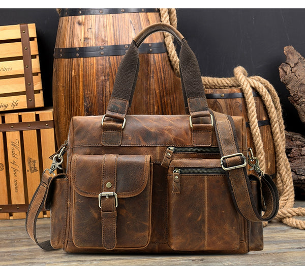 Men's Vintage Travel Messenger Bag