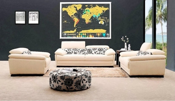 Deluxe Scratch Off World Map Home Decor