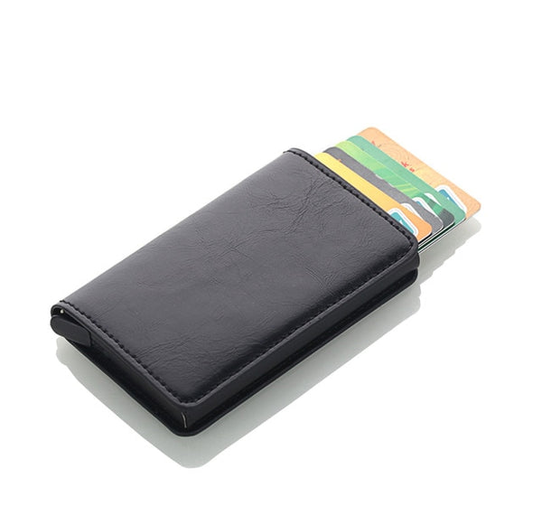 Travel Wallet for Credit Cards with Aluminum Business Card Holder