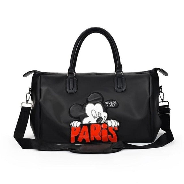 Black Mickey Mouse Travel Duffle Bag
