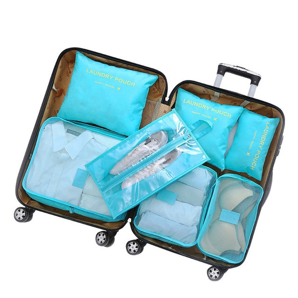 7 Pc. Luggage Packing Cube Set