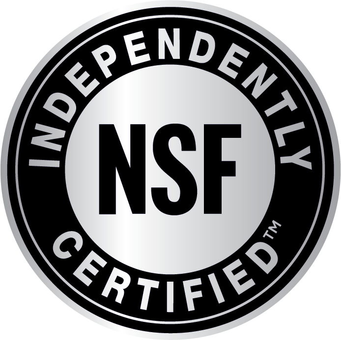 Independently NSF Certified