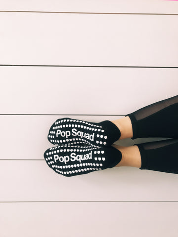#Limited Edition Pop Ballet Socks: Black Pop Squad