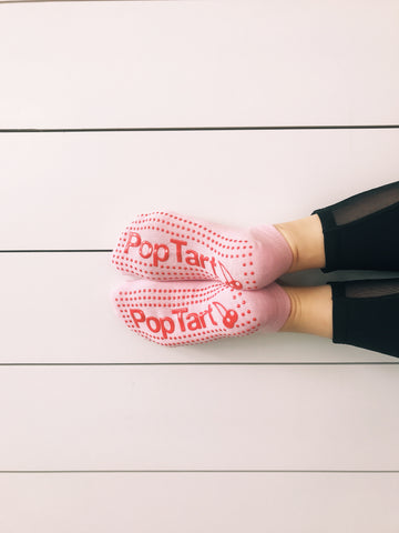 #Limited Edition Pop Ballet Socks: Soft Pink Pop Tart