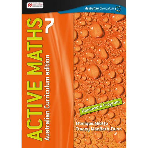 Active Maths Australian Curriculum 7 Student Homework Book