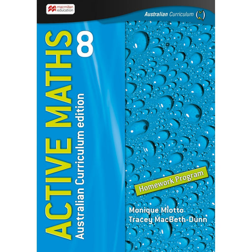 Active Maths Australian Curriculum 8 Student Homework Book