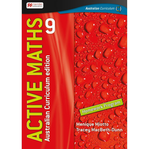Active Maths Australian Curriculum 9 Student Homework Book