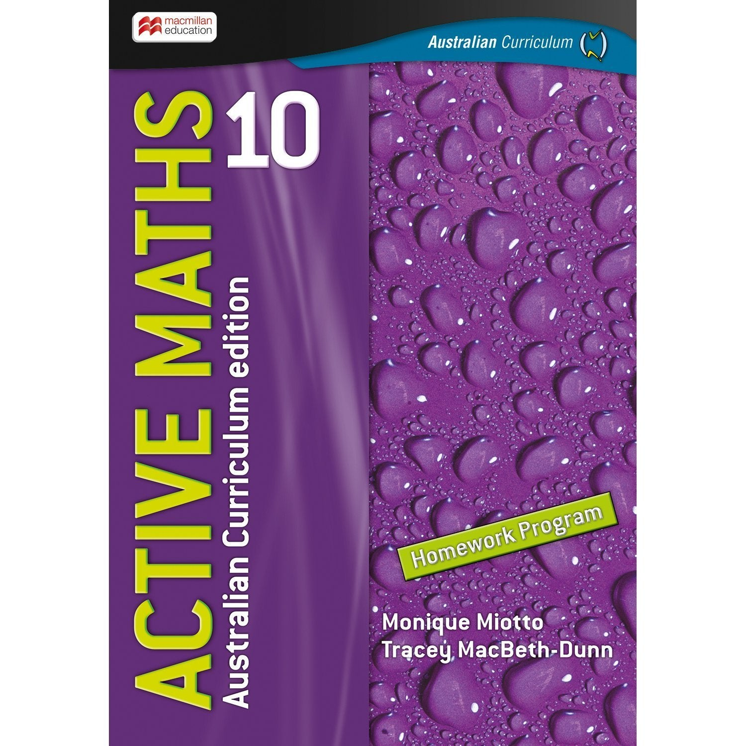 Active Maths Australian Curriculum 10 Student Homework Book