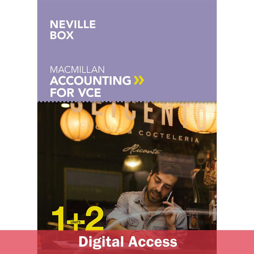 Macmillan Accounting VCE Units 1&2 Student Book 1-Year Reactivation Code