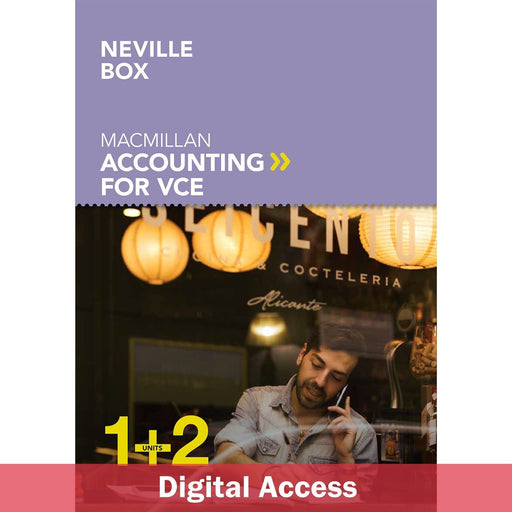 Macmillan Accounting VCE Units 1&2 6E Student Digital access