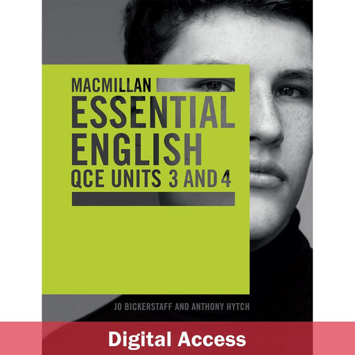 Macmillan Essential English QCE Units 3&4 Student Digital access