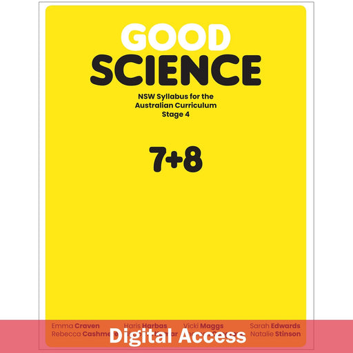 Good Science NSW Syllabus Stage 4 Student Book 2-Year Reactivation Code