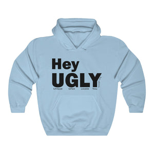 Unisex Heavy Blend™ Hooded Sweatshirt - heyuglyGEAR logo
