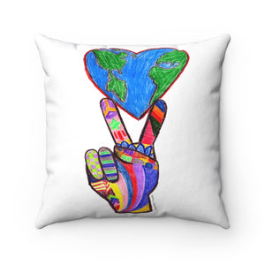 Spun Polyester Square Pillow - Ending Racism Project