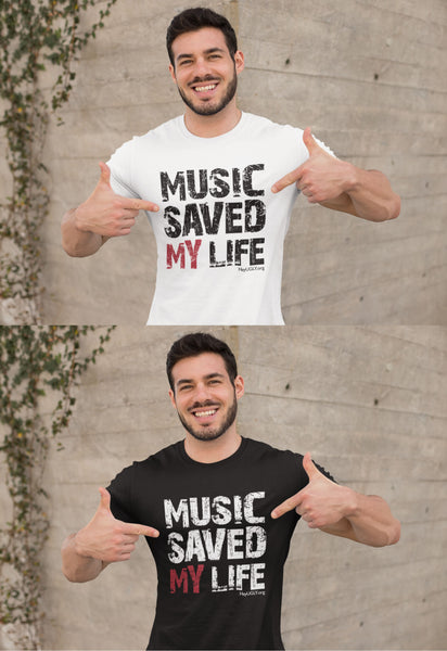 Unisex Heavy Cotton Tee - Music Saved My Life