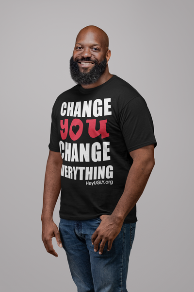 Unisex Heavy Cotton Tee - Change You Change Everything