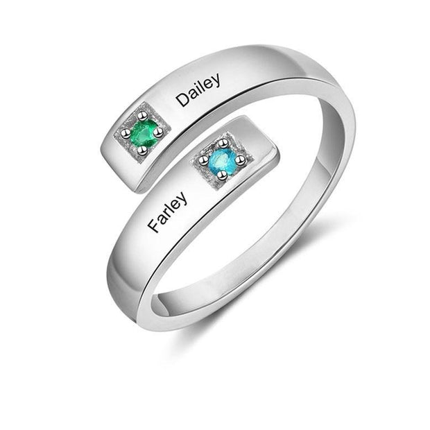2 NAME ENGRAVED PROMISE RING