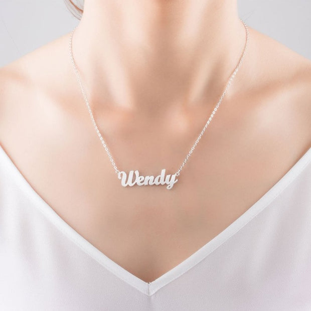 CUSTOM NAME NECKLACE silver