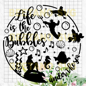 Life is the bubbles under the sea svg files, Little Mermaid Ariel SVG, Little Mermaid Clipart, Disney Character Svg Files For Cricut, SVG, DXF, EPS, PNG Instant Download