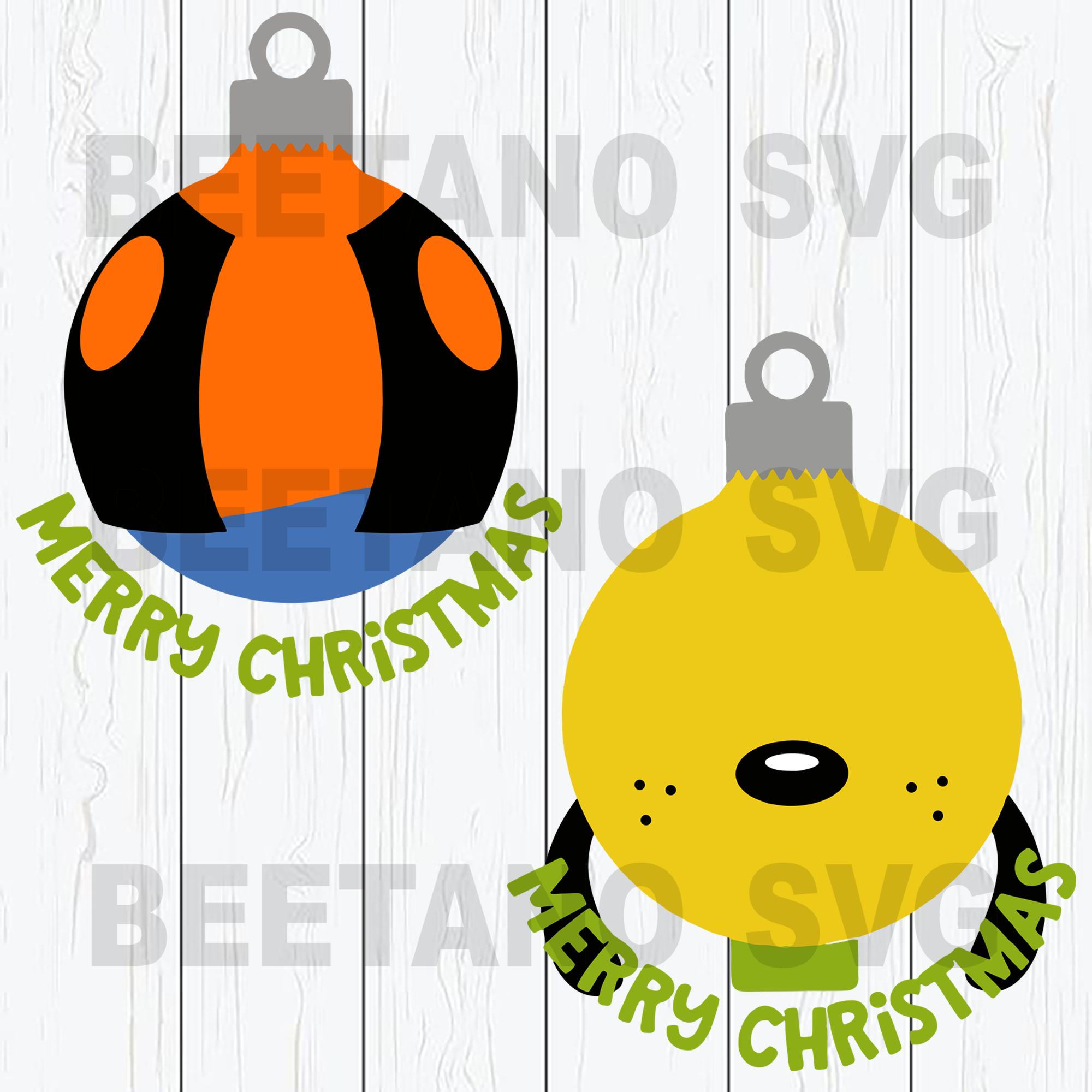 Merry Christmas Goofy Svg Bundle, Christmas Ball Pluto And Goofy Svg File, Pluto And Goofy Svg, Christmas Cutting Files For Cricut, SVG, DXF, EPS, PNG Instant Download