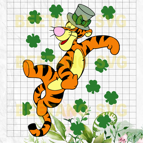 Tigger Winnie Pooh Cutting Files For Cricut, SVG, DXF, EPS, PNG Instant Download