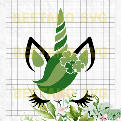 Unicorn St patrick's day Svg, Svg Files For Cricut, SVG, DXF, EPS, PNG Instant Download