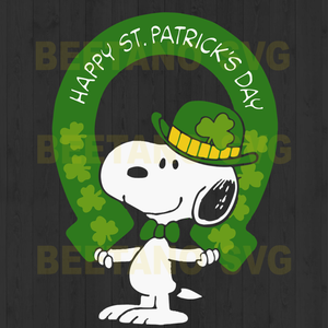 Snoopy Happy St.Patrick's day Cutting Files For Cricut, SVG, DXF, EPS, PNG Instant Download