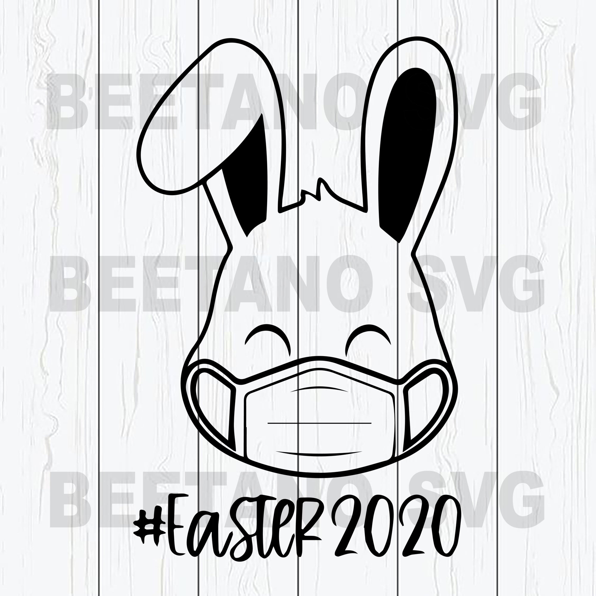Bunny Face Mask Happy Easter 2020