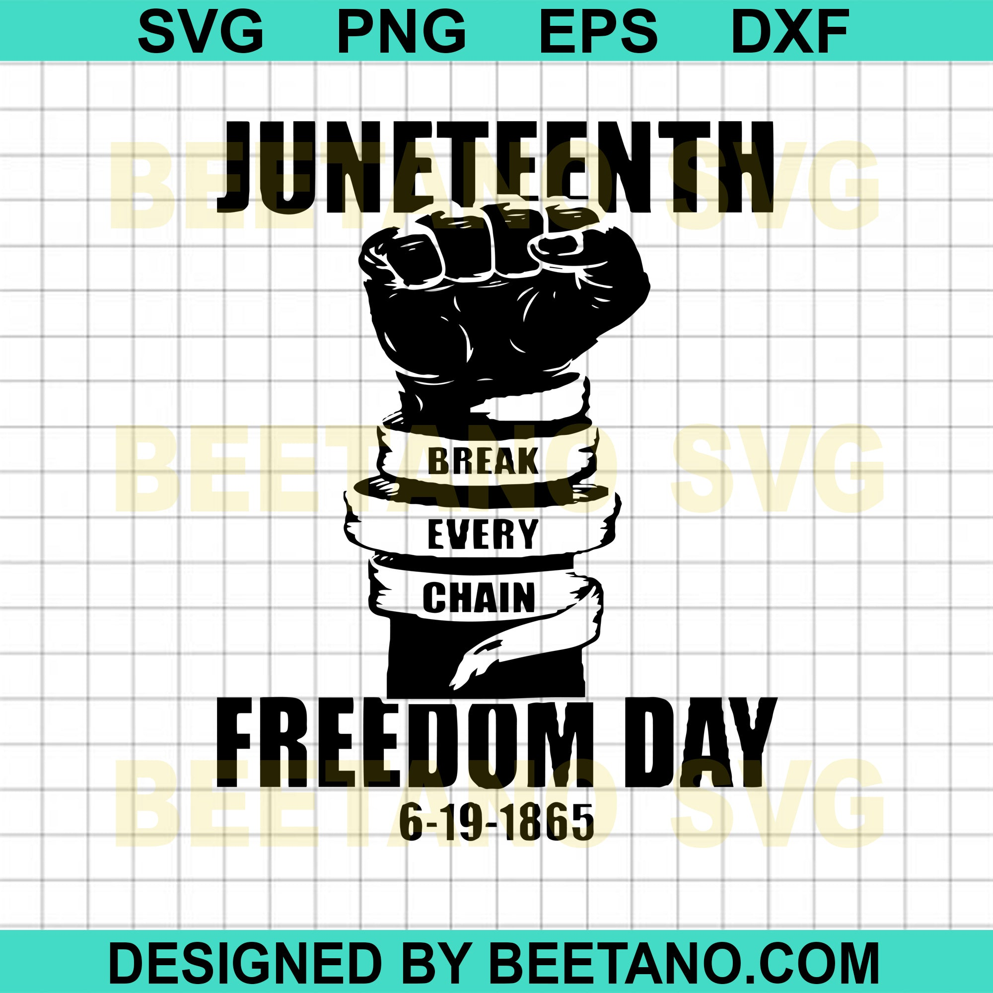 Juneteenth Break Every Chain Freedom Day Hand Svg, Freedom Day Svg Files