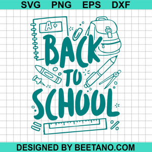 Back to school svg