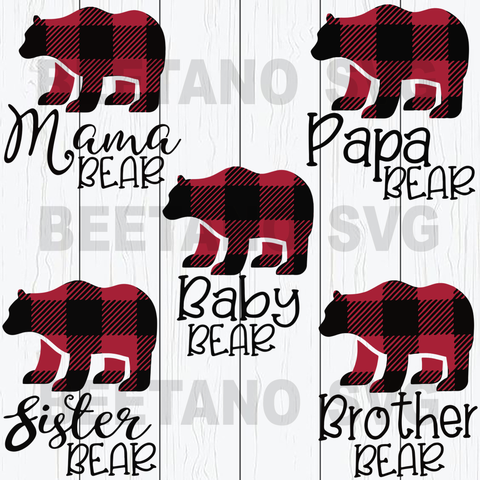 Family Bear Svg Bundle