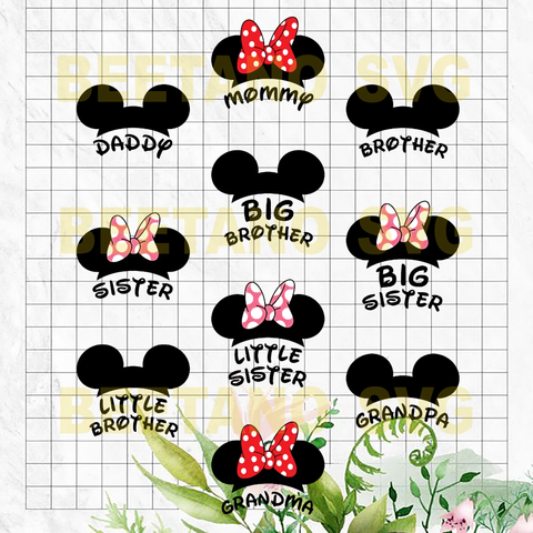 Mickey Minnie family Svg Bundle