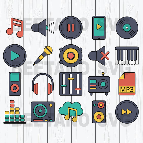 Music life Cutting Files For Cricut, SVG, DXF, EPS, PNG Instant Download