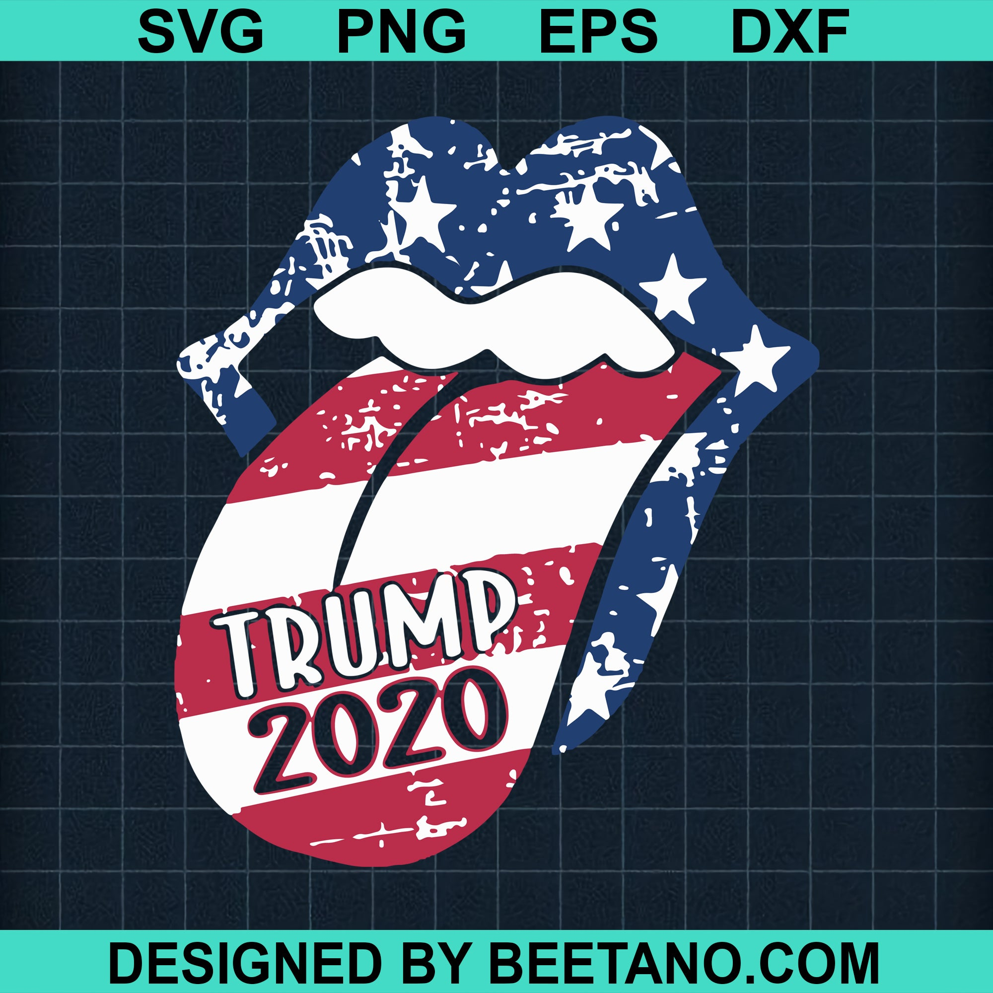 4Th Of July Lips Trump 2020