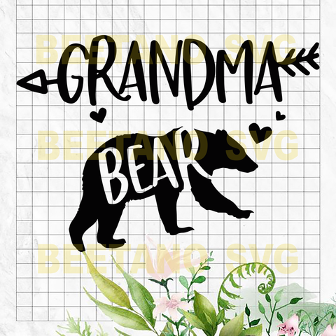 Grandma bear Cutting Files