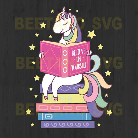 Unicorn Reading Believe In Yourself