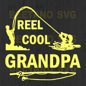 Reel Cool Grandpa Fishing