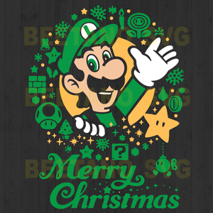 Super Mario Christmas Svg,  Super Mario Clipart, Super Mario Cutting Files,  Super Mario Vector,  Christmas Super Mario Files,  Super Mario Cutting Files For Cricut, SVG, DXF, EPS, PNG Instant Download