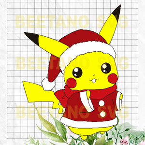 Santa Pikachu Svg, Cute Santa Pikachu Files, Santa Pikachu Cricut, Santa Pikachu Vector, Pikachu Santa Cutting Files For Cricut, SVG, DXF, EPS, PNG Instant Download