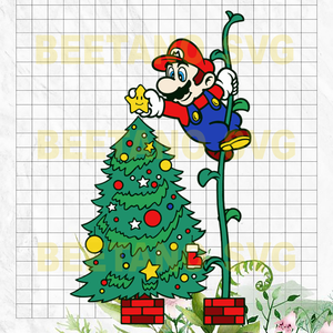 Super Mario Christmas Tree Svg, Super Mario Christmas Clipart, Super Mario Christmas Vector, Super Mario Christmas Files, Super Mario Christmas Cutting Files For Cricut, SVG, DXF, EPS, PNG Instant Download