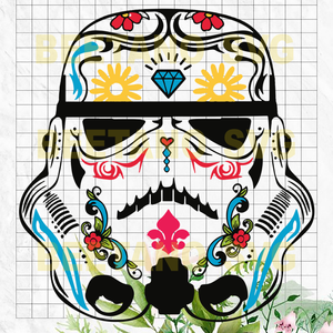 Mandala Storm Trooper Svg, Mandala Storm Trooper Star war Files For Cricut, Star war Svg, Mandala Storm Trooper Cutting Files For Cricut, SVG, DXF, EPS, PNG Instant Download