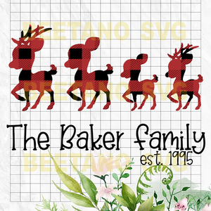 The Baker Family Svg, Christmas Family Svg Files, Family Vector, The Baker Family  Cutting Files For Cricut, SVG, DXF, EPS, PNG Instant Download