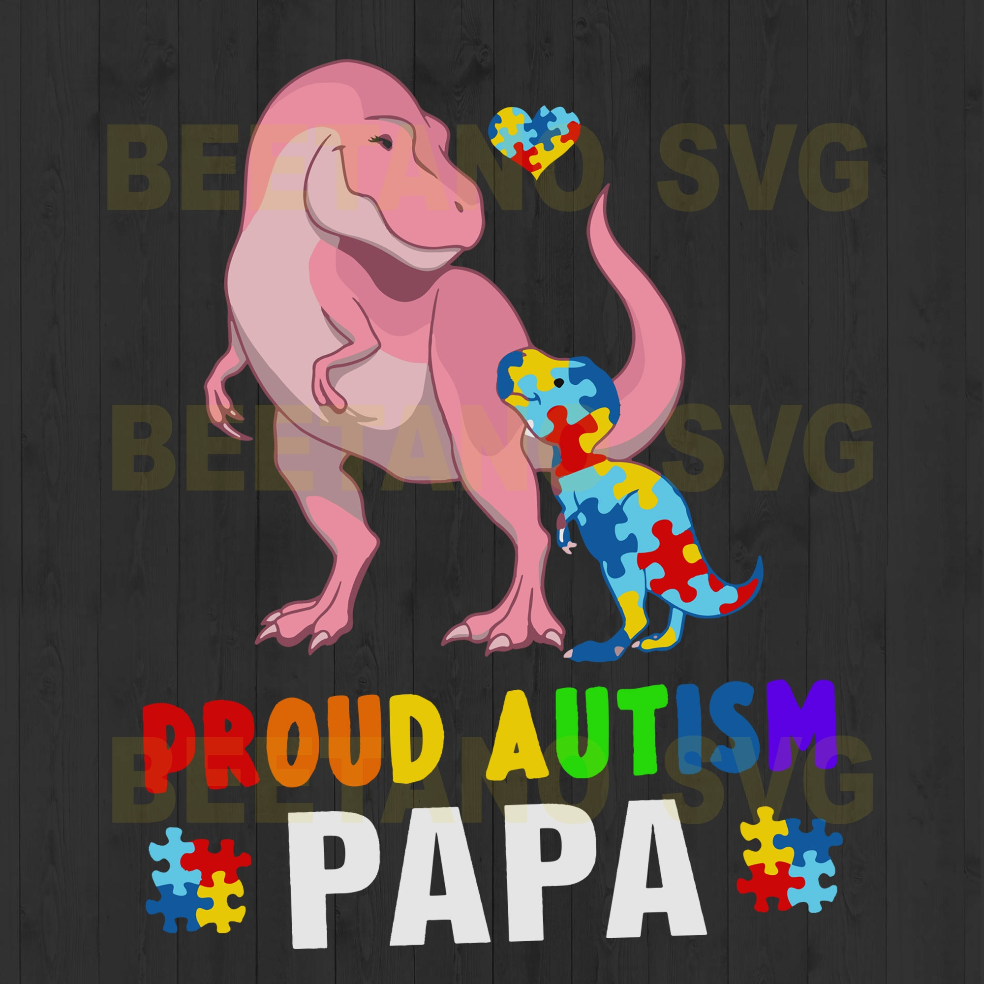 Proud Autism Papa Svg Files